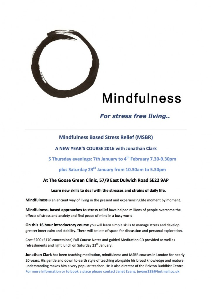 Mindfulness New Year 2016