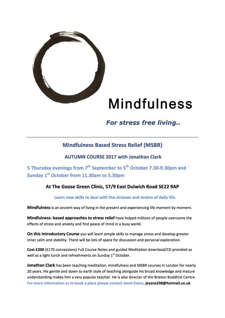 Mindfulness Autumn 2017